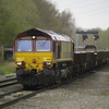 66113 heads another rake of coalfish through this time 6M26 Eastleigh - Stud Farm