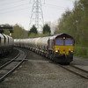 Its all hectic as 66114 heads 6M82 Walsall - Tunstead cement tanks