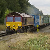 The power is applied on 66016 as it heads 4M74 Ipswich - Birch Coppice