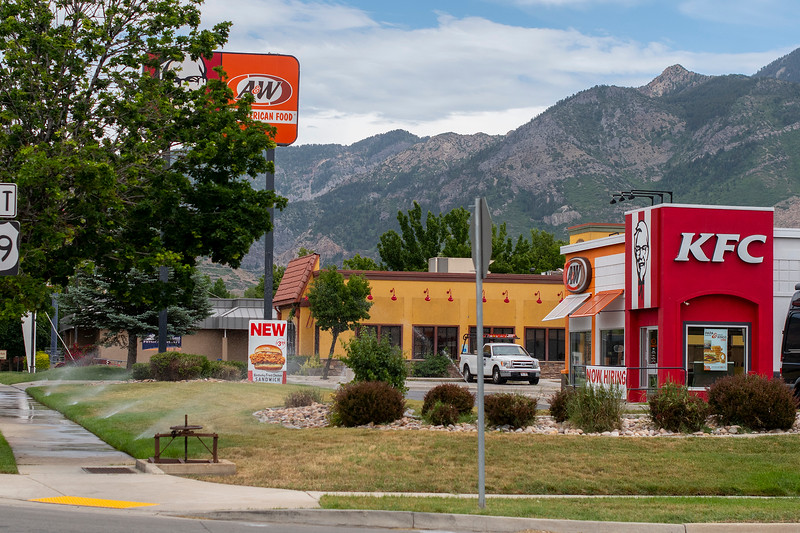 new restrictions on watering in light of the statewide drought. KFC on 12th street in Ogden. On June 9, 2021