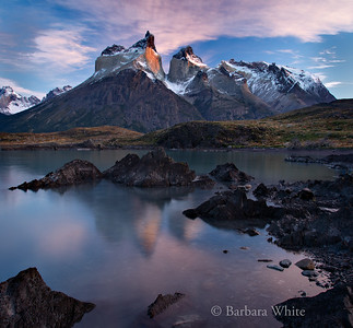 Cuernos Del Paine Reflecting In Lake