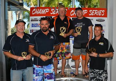 300's winners (Lto R)......3rd Greg Marchenko/Darren Green,  1st Jay Branson/Byron Jane, 2nd John Chigros (absent)/Jody Cole