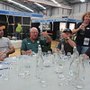 Tuesday heats of the 2014 Orica NSW Water Taste Test - 2013 winners MidCoast Water boys check out the competition