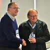 Bob Arnold from Ixom congratulates Chris Copley from All Water