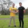 Stuart Boyd (Mackay RC) accepts the award from Rohan Storey (Ixom)