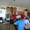 Matt Carr from Orica presenting the Orica Tasmanian Water Taste Test trophy.