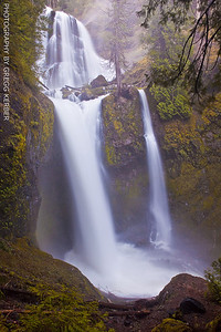 Middle and lower tiers - Falls Creek Falls - Gifford Pinchot NF