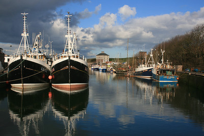 Eyemouth harbour.
