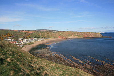 Pease Bay, Scottish Borders.