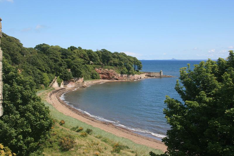 Coastline at Ravenscraig Castle, Fife.