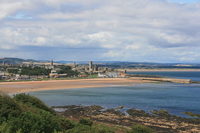 St Andrews from the Fife coastal path.