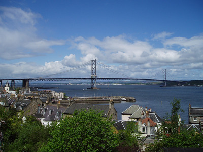 Forth Road Bridge from South Queensferry.