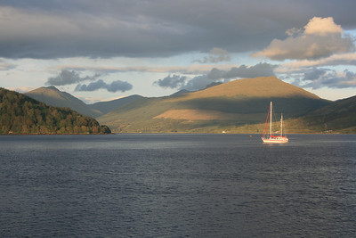 Sunset on Loch Fyne at Inveraray.