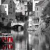 B & W red boat