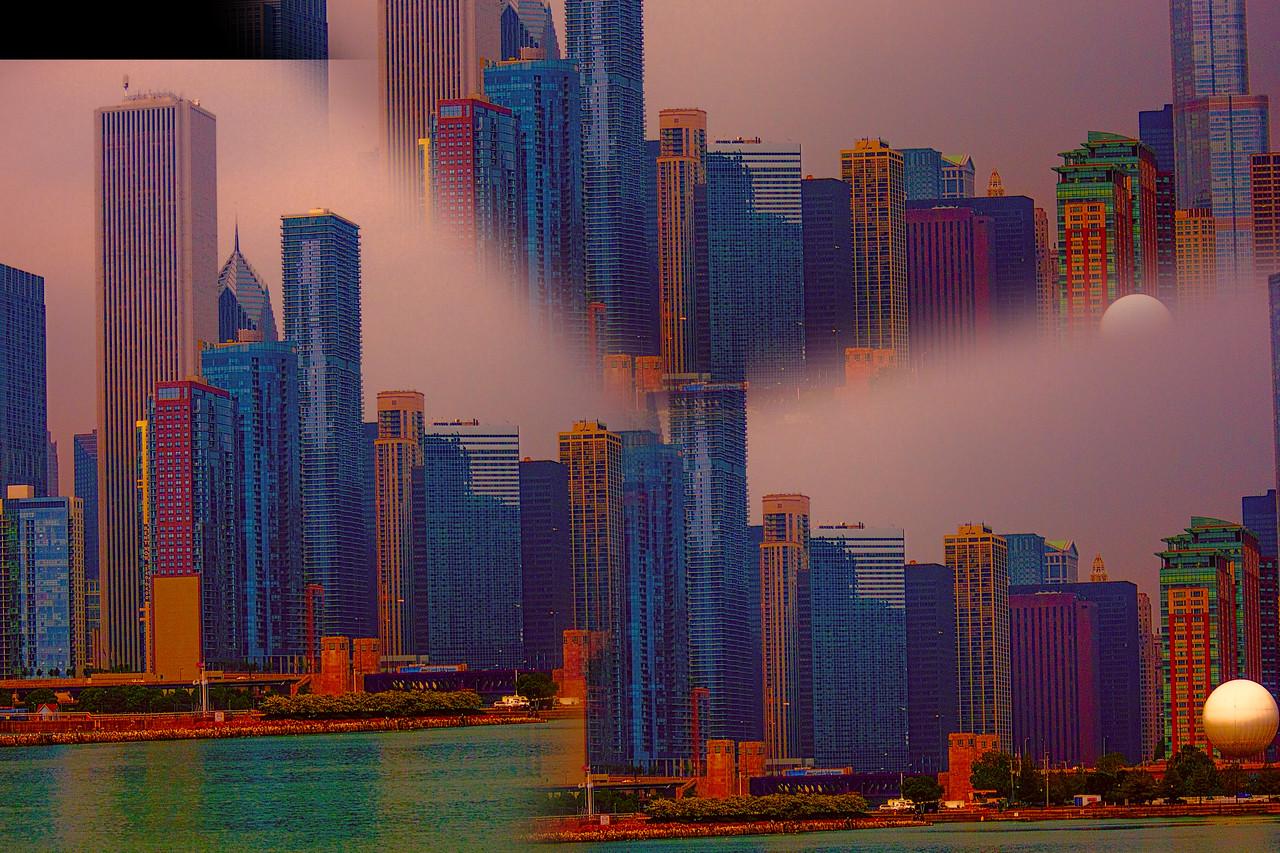 Chicago foggy day Sunset split prismIMG_7610_edited-4