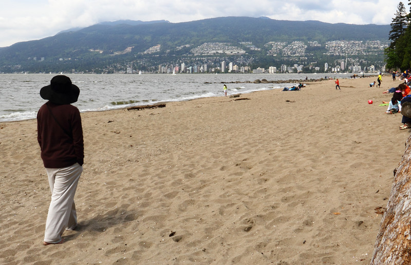Sandy Beach with City in background