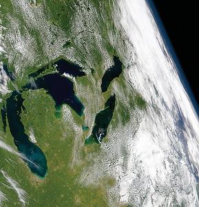 NASA Saetllite Image - Great Lakes