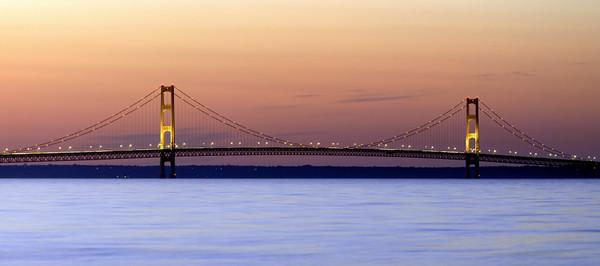 MackinacBridge-Sunset