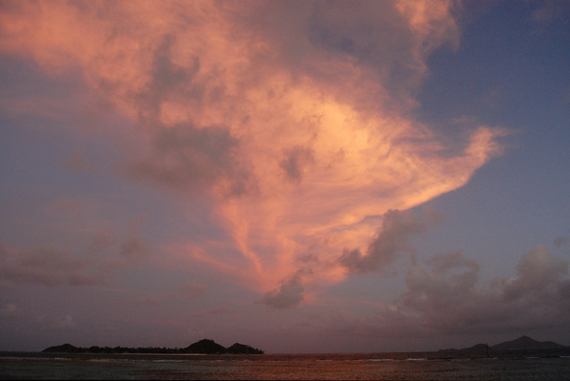 Clouds over Palm Island.