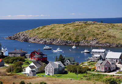 Monhegan Island Village View