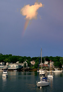Rainbow over Boothbay Harbor