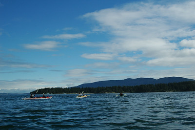 Paddling across from Cypress Island to Sinclair Island.