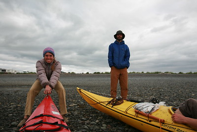 HOMER, AK - Lindsay and Sune are ready for us to come back ashore after a relaxing afternoon on land.