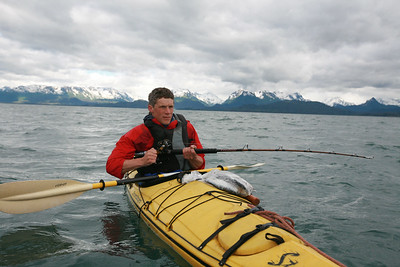 HOMER, AK - Nathaniel and Cameron go out to catch some halibut for dinner... but the timing seems to be off and in the end we have to suffer with an afternoon paddle in Kachemak Bay. Oh, well.