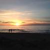 Sunset-Lk MI shoreline-Fall 2015
