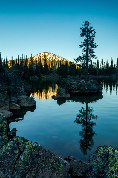 Mt. Bachelor Glow at Sparks Lake