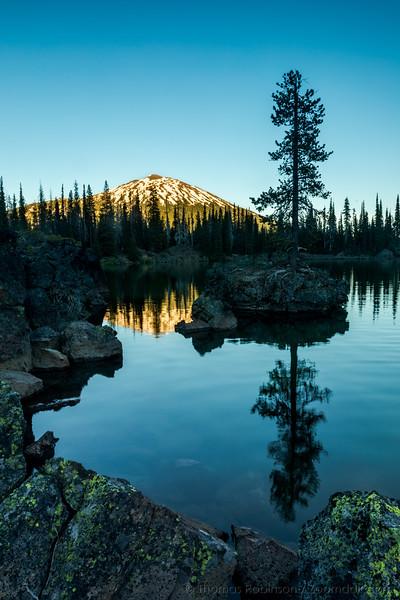 Mt. Bachelor Glow at Sparks Lake