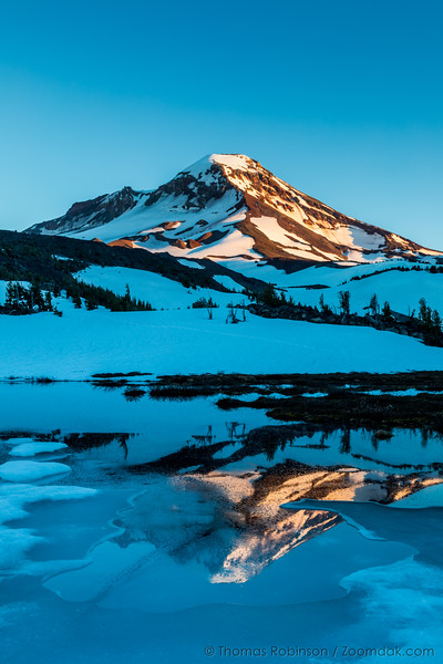 Frozen Camp Lake Reflection