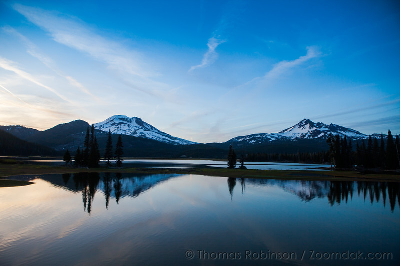 Sparks Lake Sunset Horizontal