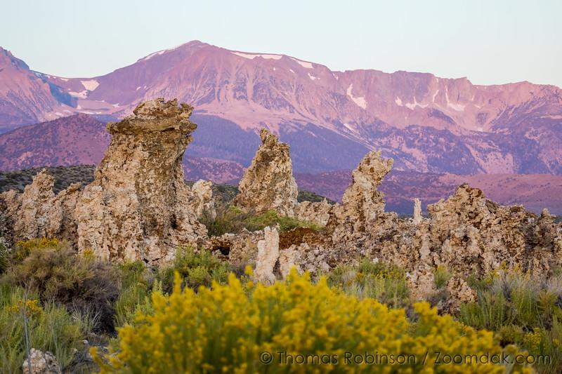 Tufas and Mountains