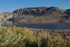 The Dillon Pinnacles reflect off of Blue Mesa Resevoir in the morning light.