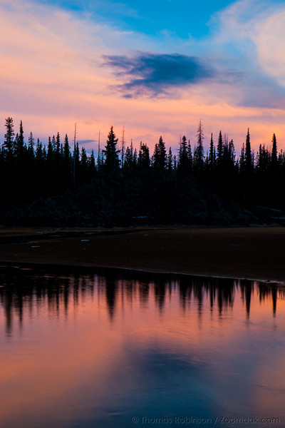 Pink Skies Over Sparks Lake