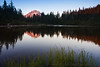 Mt. Hood Alpenglow at Mirror Lake, Horizontal