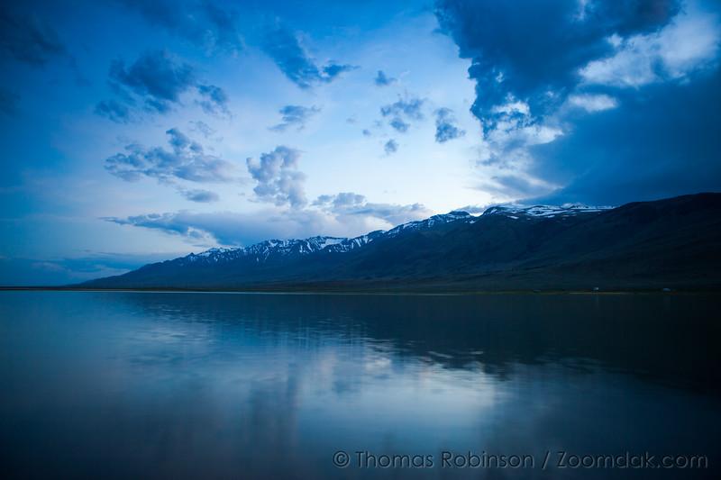 Steens Reflection in Mann Lake