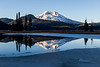 Frozen Reflection of South Sister