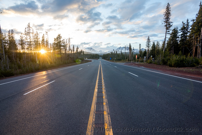Sunset on Cascade Lakes Highway