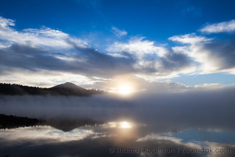 Mt. Bachelor Sunrise at Elk Lake