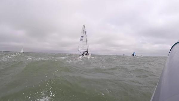 Race 1 J70 DW - kite not fully hoisted