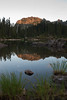 Brother Reflection in Upper Lena Lake at sunset.