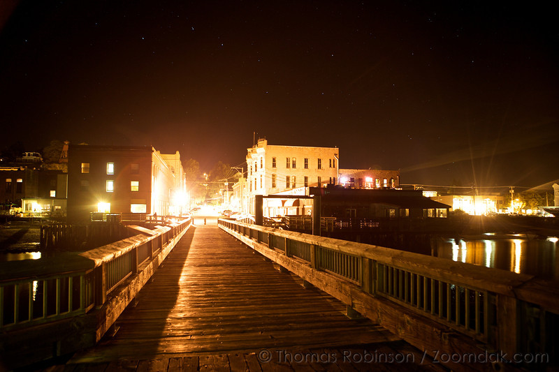 The big dipper shines above the night lights of Port Townsend.
