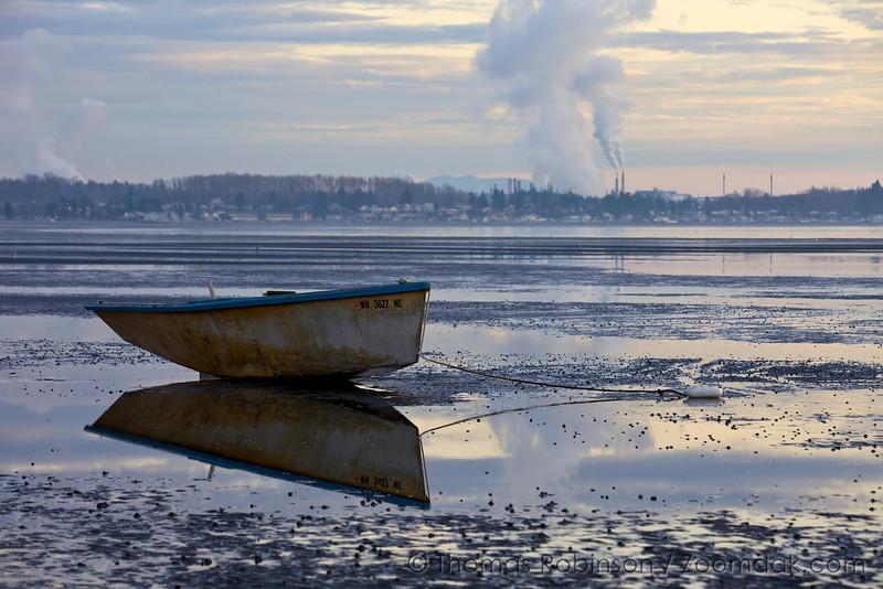 Moored Fishing Boat at Birch Bay, Bellingham