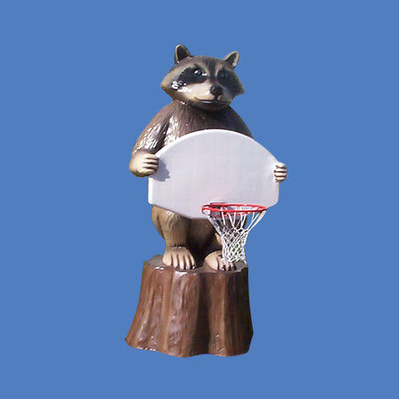 Raccoon Basketball Hoop #9123