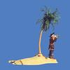 Palm tree island, 12'H #6071