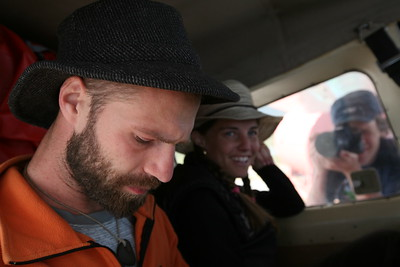 ARCTIC VILLAGE, AK - Sune & Lindsay are loaded in the Hilio Courier with a bunch of gear ready to fly into the Kongakut.