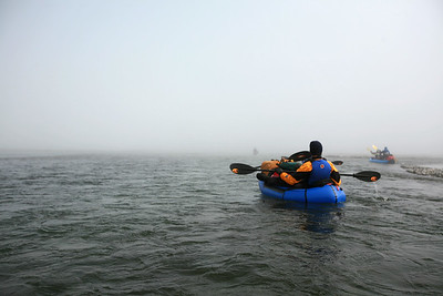 KONGAKUT RIVER, AK - Camp VIII - Camp IX; Into the fog.