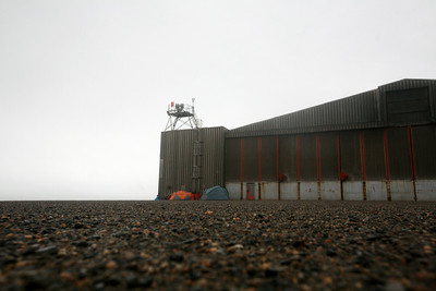 KAKTOVIK, AK - Camp X; Camped out on the airstrip appron by the old US Air Force hangar.